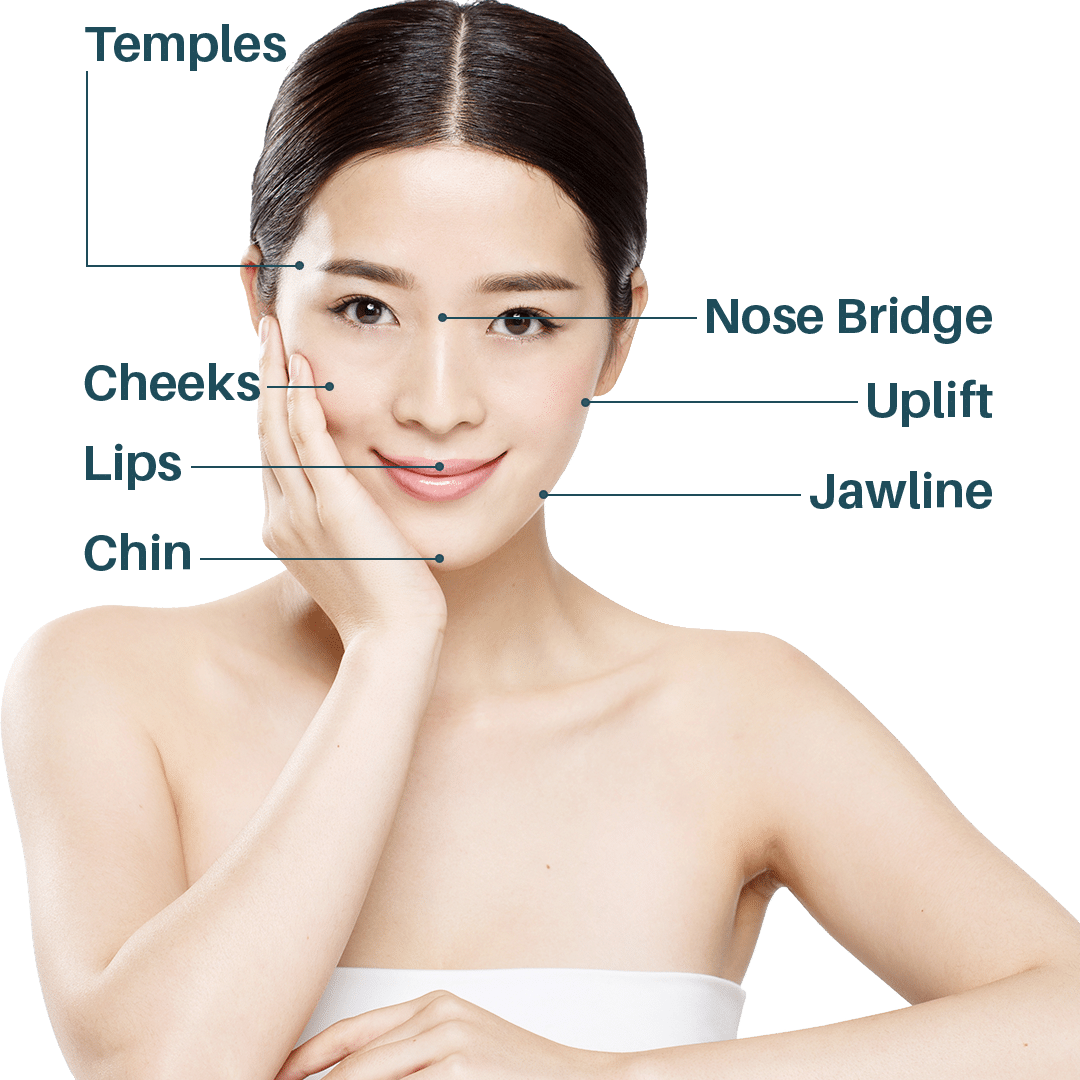 Beautiful Asian Woman with Dermal Filler Treatments